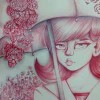 Umbrella Girl but not a Doodle???