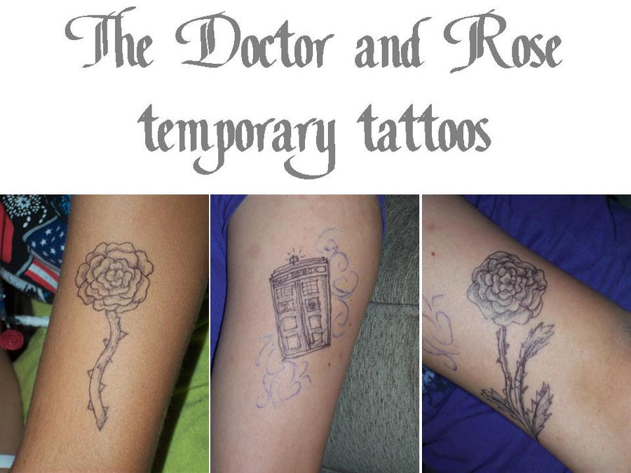 Mehndi For Doctors : The doctor and rose temporary tattoos by