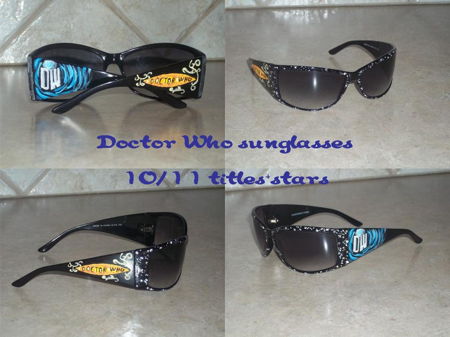 Doctor Who Hand-Painted 10/11 Era Sunglasses by DragonsAndDreamscape