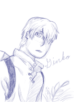 Ginko sketch by DragonsAndDreamscape