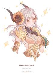 MHW Kulve Taroth Armor