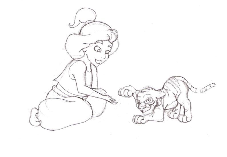 Little Jasmine and Rajah by Blossom-Disneyaholic