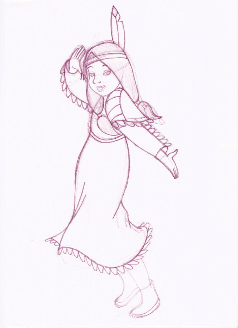 princess tiger lily coloring pages - photo#16