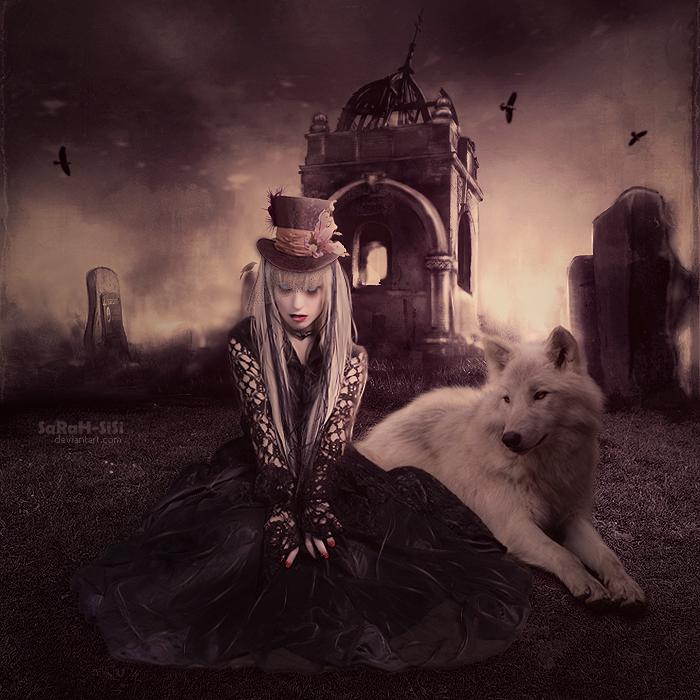 ►►► IMAGENES GOTICAS BONITAS ◄◄◄ - Página 3 Wolf_princess_by_sarah_sisi-d4vai0w