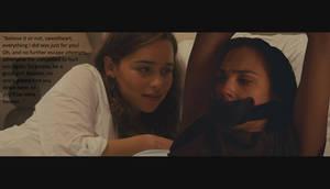 Emilia holds Gal Gadot captive (Gag Fantasy)