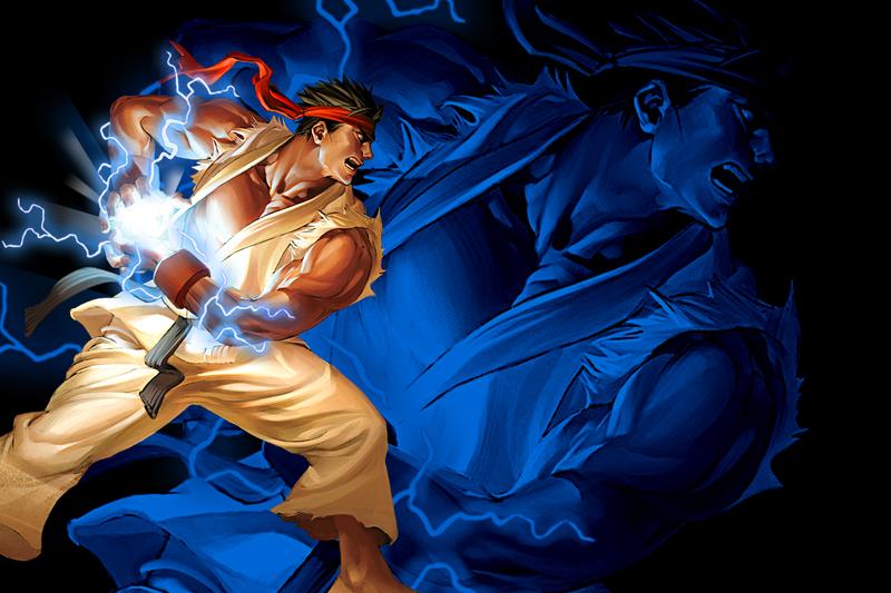 Ryu fireball wallpaper by natedone