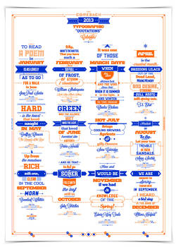 2013 Typographic Quotations Calendar