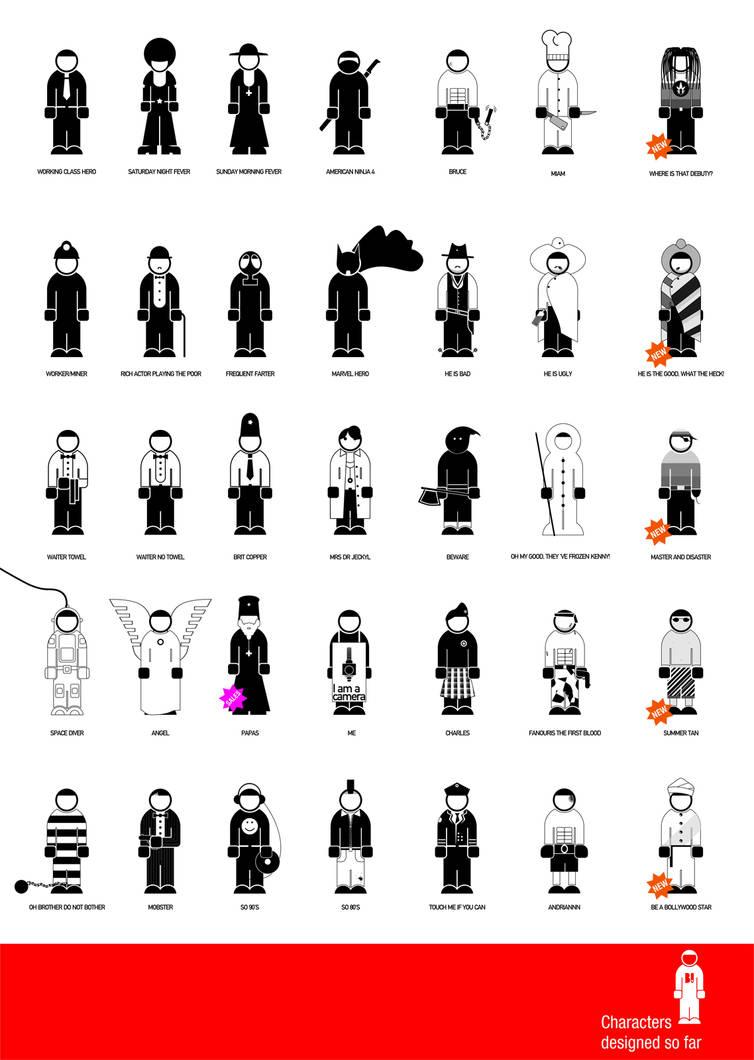 characters so far