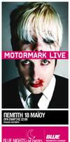 motormark live in blue bar