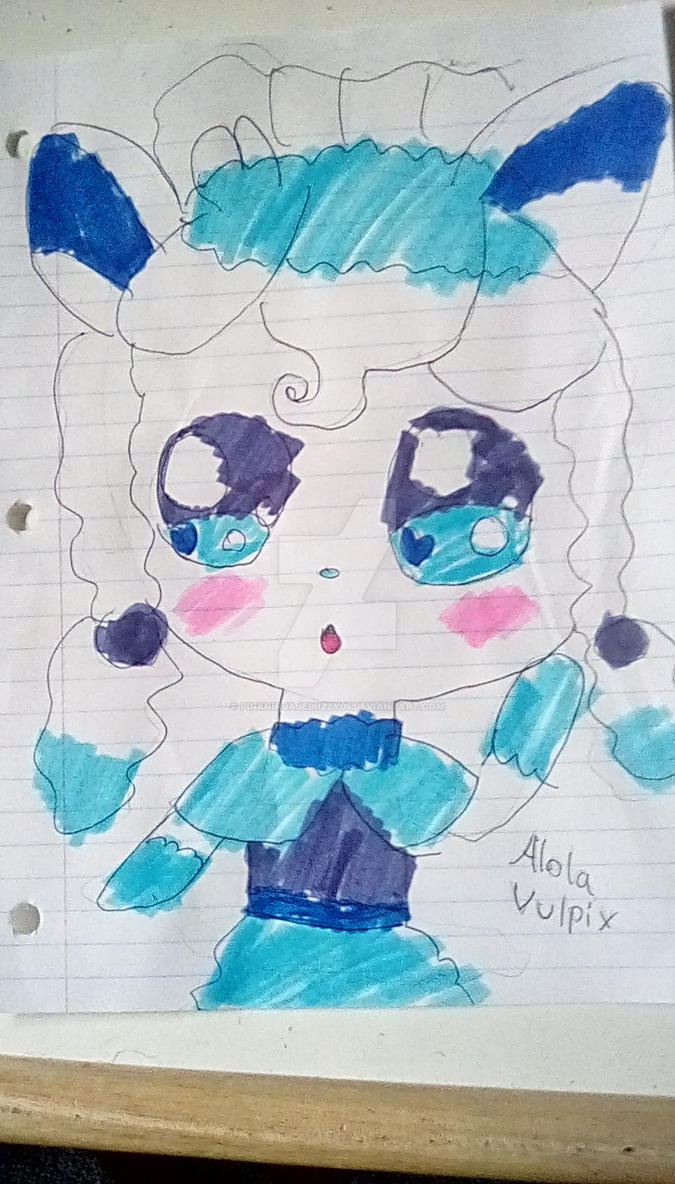 Alola Vulpix Pokehuman by PinkNinjaJediIzzy05