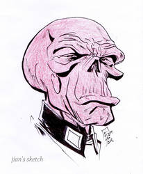 Red SKull by jianchong