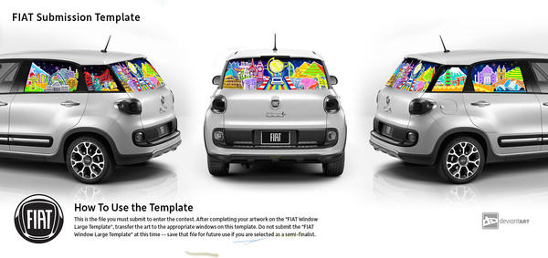 Travel the World with Fiat500 have a colorful ride by LovelyIcePrincess