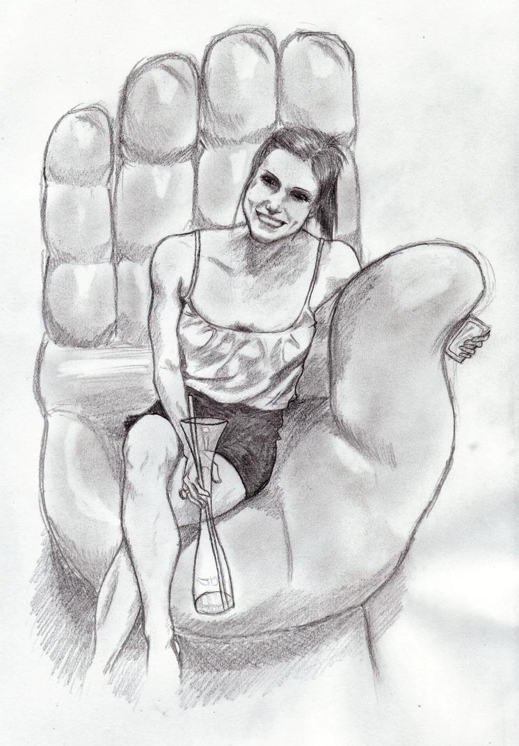 Sarah in hand chair by ninjason57