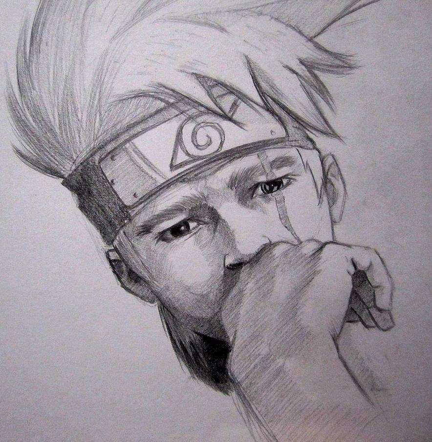 Kakashi portrait by ninjason57