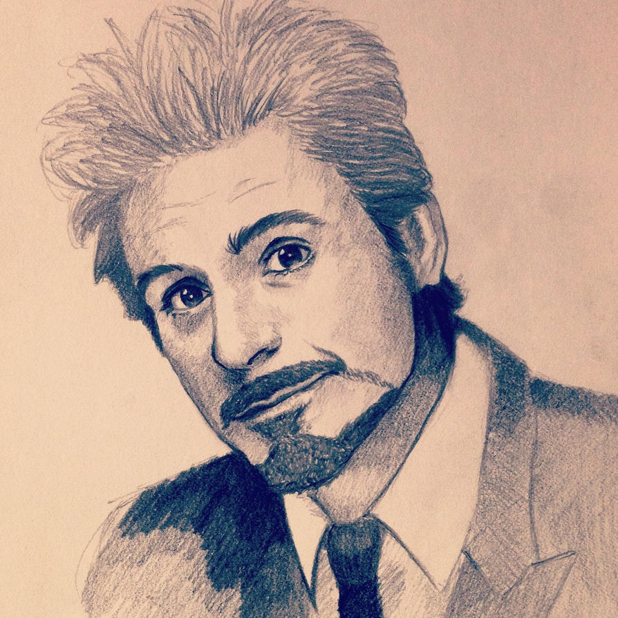 Robert Downey Jr. Iron Man by ninjason57