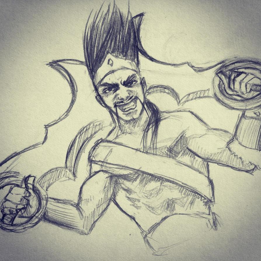 Draven sketch by ninjason57