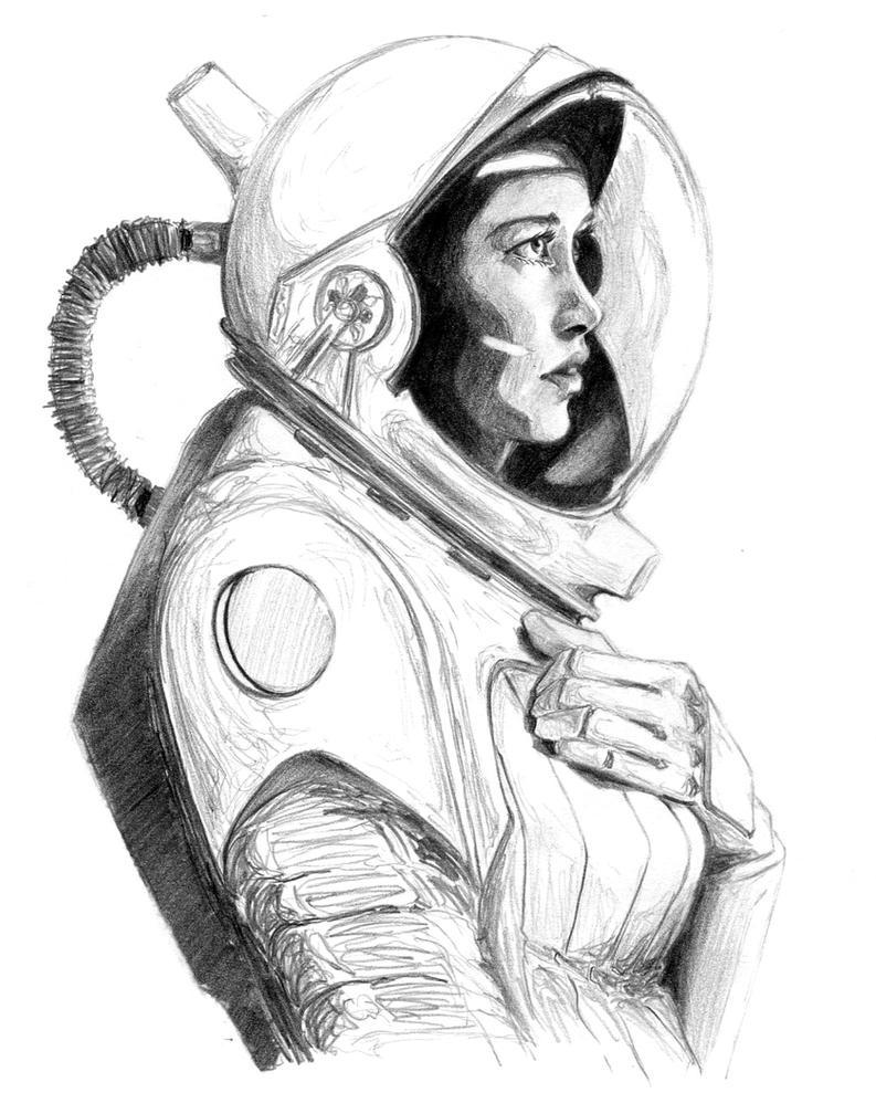 Astronaut Lady Sketch By Ninjason57 On DeviantArt