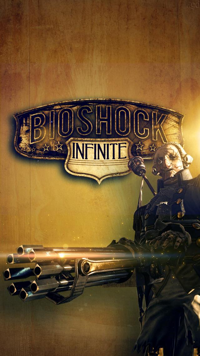 Bioshock Infinite iPhone Wallpaper by footthumb
