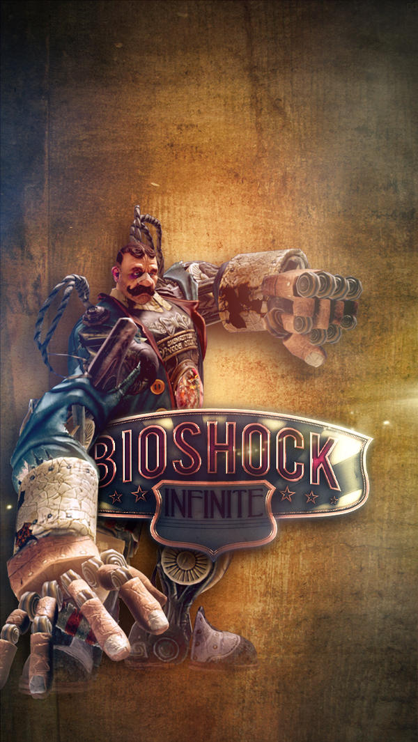 Bioshock Infinite iPhone Wallpaper - 2 by footthumb