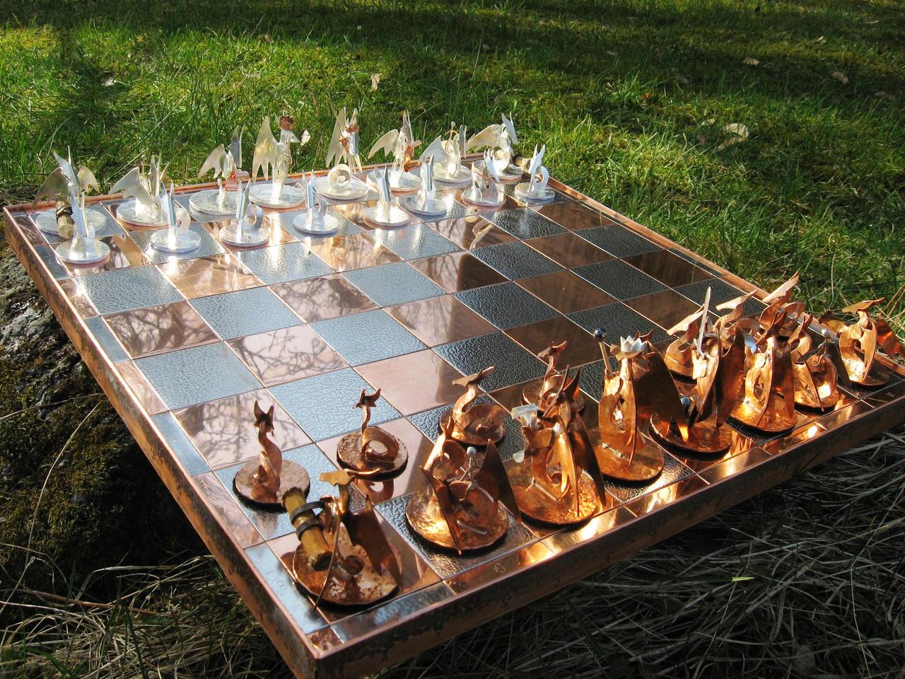 Chess Set of Dragons