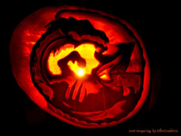 Dragon Egg Pumpkin 2006 by KillerGraphix79