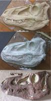Tyrannosaurus Skull Sculpt