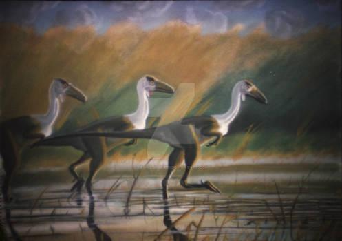 Troodon Trio (Pastel 1994)