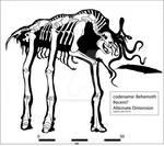 Behemoth (Mist Monster) Skeleton