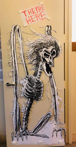 Poltergeist: The Beast door decoration
