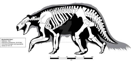 Barylambda faberi a Clarkforkian Pantodont