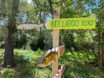 Key Largo bonefish marker sign