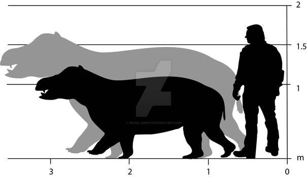 Coryphodon relative size
