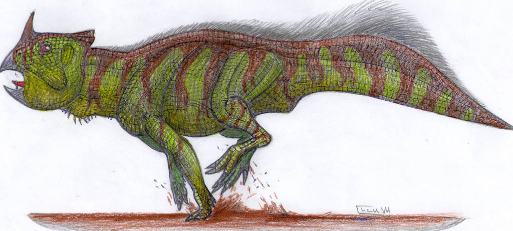 Platyceratops 4 by Xiphactinus