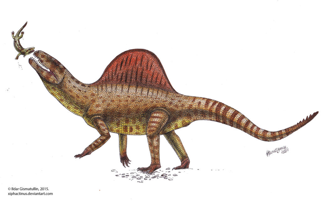 Xilousuchus hunting.. or playing? by Xiphactinus on DeviantArt