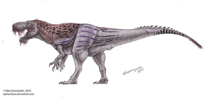 Inostrancevia-Tyrannosaurus hybrid by Xiphactinus