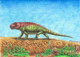 Sphenacodon ferox by Xiphactinus