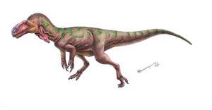 Single crested lizard by Xiphactinus