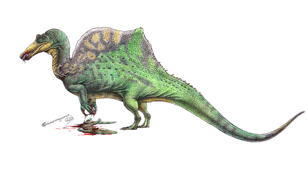 The croc hunter by Xiphactinus