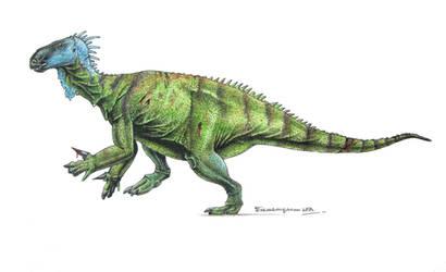 Iguanodon bernissartensis by Xiphactinus