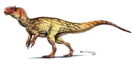 Allosaurus fragilis by Xiphactinus