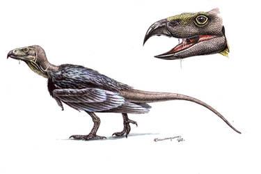 Raven-Komodo dragon hybrid by Xiphactinus