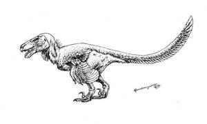 Utahraptor ostrommaysorum by Xiphactinus