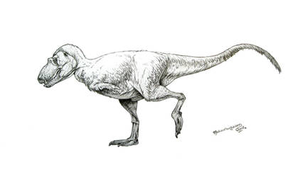 Feathered Lythronax argestes by Xiphactinus
