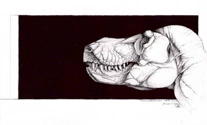T. rex portrait by Xiphactinus