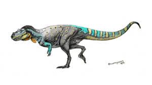 Saltriovenator zanellai colored by Xiphactinus