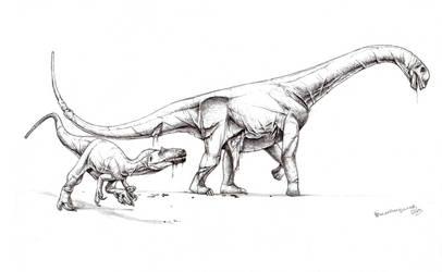 Allosaurus flesh-grazing behavior