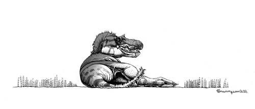 Resting Gorgosaurus libratus