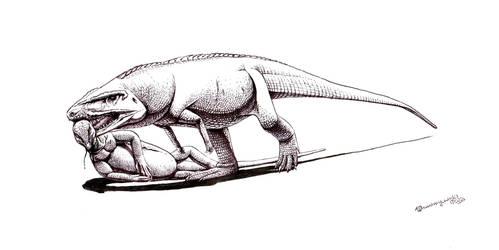 Postosuchus kirkpatricki with prey