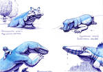 Synapsid paleostream drawings