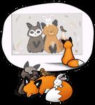 Stupid Fox - Friendship by DreamersRain
